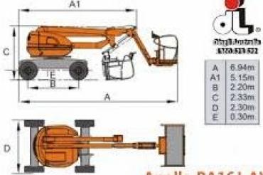 Dignli Apollo BA16J-AWD Self Propelled Articulating Boom Lift